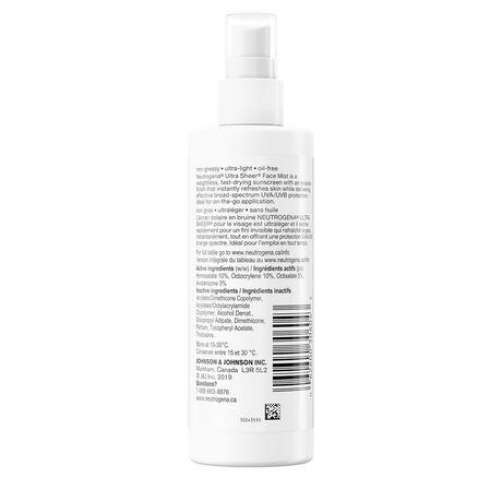 Neutrogena Ultra Sheer Face Mist Sunscreen SPF 50, 100ml - image 4 of 6