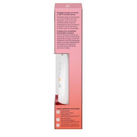 Hydratant pour le visage Neutrogena Bright Boost avec protection solaire UVA/UVB à large spectre, FPS 30, Anti-âge, Crème illuminante pour le visage avec vitamines C et E, Neoglucosamine, Graines de moringa, 30 ml - image 6 de 6