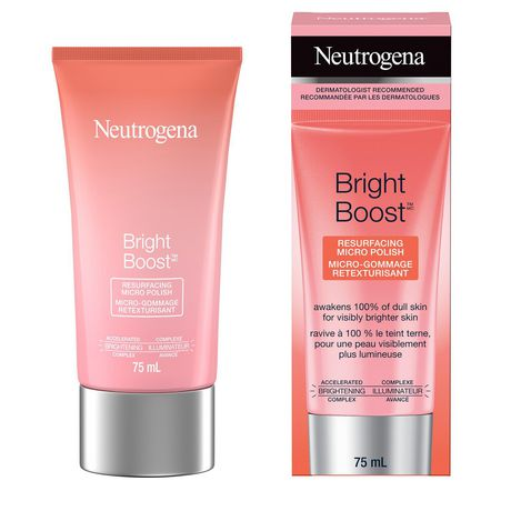 Neutrogena Bright Boost Resurfacing Micro Polish Exfoliating Face Scrub with AHAs, Glycolic and Mandelic Acid, Gentle Skin Resurfacing Facial Cleanser for Brightening & Anti aging, 75 mL - image 1 of 6