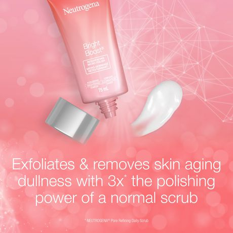 Neutrogena Bright Boost Resurfacing Micro Polish Exfoliating Face Scrub with AHAs, Glycolic and Mandelic Acid, Gentle Skin Resurfacing Facial Cleanser for Brightening & Anti aging, 75 mL - image 2 of 6