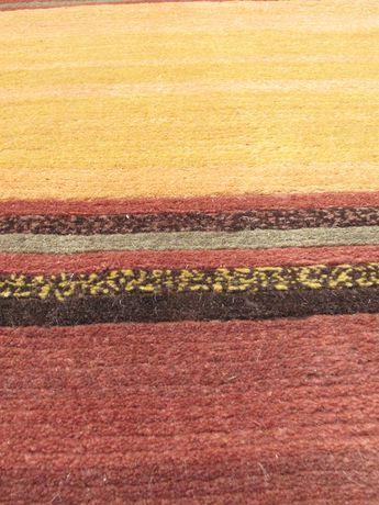 "eCarpetGallery Hand Knot Aurora Copper Brown Wool Rug 8'0""x11'0"" - image 3 of 4"