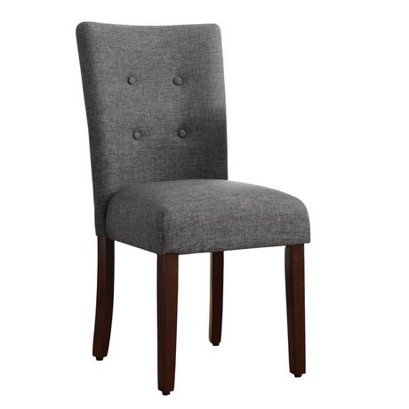 hometrends grey tufted dining chair