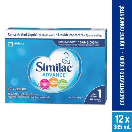 Similac Advance Étape 1 Préparation en liquide concentré, 12 x 385mL - image 1 de 9