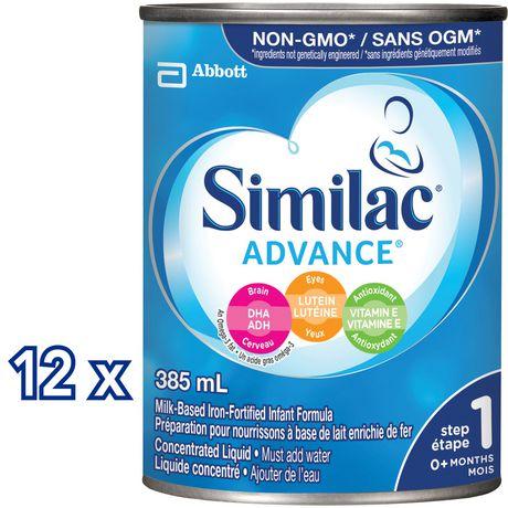 Similac Advance Étape 1 Préparation en liquide concentré, 12 x 385mL - image 2 de 9