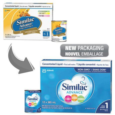 Similac Advance Étape 1 Préparation en liquide concentré, 12 x 385mL - image 3 de 9