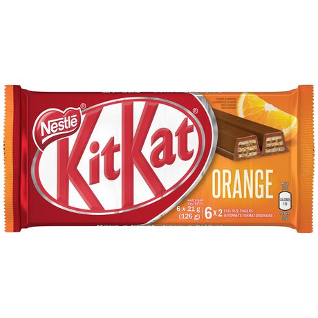 kit kat nestlÉ kitkat 2 finger orange wafer bar walmart canada