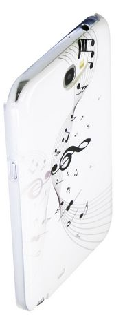 Exian Case for Samsung Galaxy Note 2, Musical Notes - White - image 2 of 2