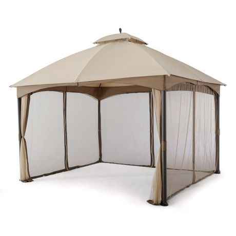 hometrends Tuscany 10 ft. x 12 ft. Fabric Top Gazebo - image 3 of 8