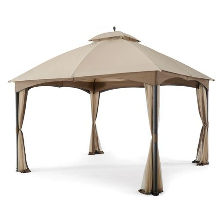 hometrends Tuscany 10 ft. x 12 ft. Fabric Top Gazebo - image 4 of 8