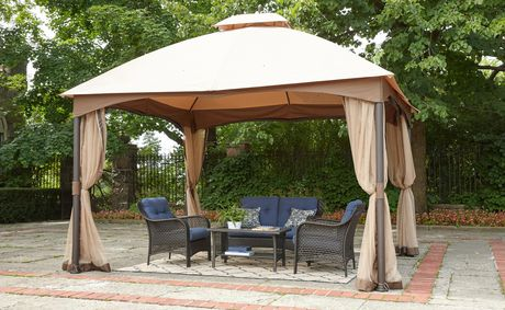 hometrends Tuscany 10 ft. x 12 ft. Fabric Top Gazebo - image 1 of 8