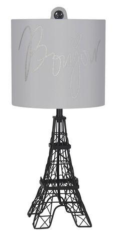 Exceptional Hometrends Bonjour Paris Accent Lamp