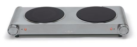 Salton Stainless Steel Portable Infrared Cooktop Double Burner HP1269 - image 1 of 2