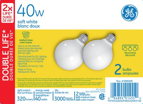 ge lighting canada 40 watt g25 soft white bulbs walmart canada