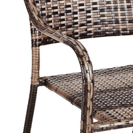 hometrends Wicker Stacking Dining Chair - image 5 of 6