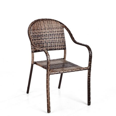 hometrends Wicker Stacking Dining Chair - image 2 of 6