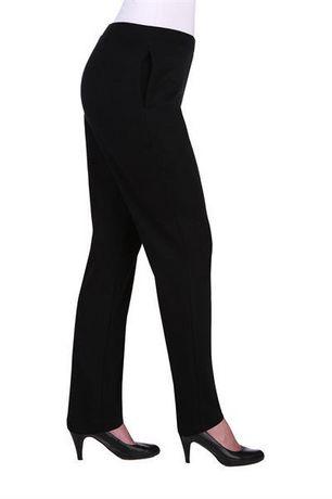 Alia Women's Ribbed Pull-On Straight Leg Pants - image 2 of 3