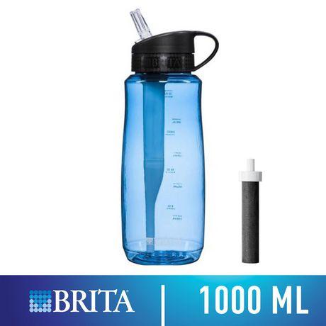 7ce96f58c2 Brita Hard Sided Bottle, Blue 1L - image 1 of 2 ...