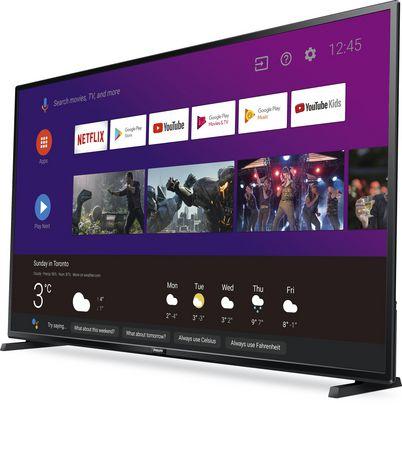 """Téléviseur intelligent Android 55 """"4K UHD HDR10 de Philips avec Google Assistant intégré, 55PFL5704/F7 - image 2 de 9"""