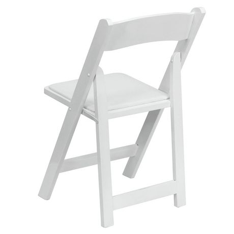 Flash Furniture Hercules Series White Wood Folding Chair with Vinyl Padded Seat - image 7 of 7