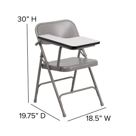 Super Premium Steel Folding Chair With Right Handed Tablet Arm Machost Co Dining Chair Design Ideas Machostcouk