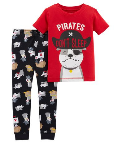 pyjama 2 pi ces pour b b coton garcon child of mine made by carter s pirates walmart canada. Black Bedroom Furniture Sets. Home Design Ideas