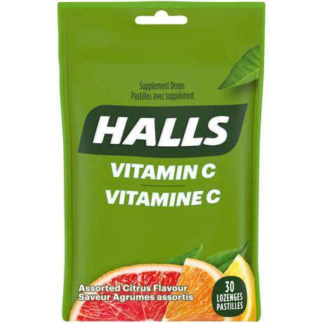 Pastilles Halls à la vitamine C avec supplément - image 1 de 1