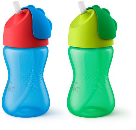 PHILIPS Avent - Straw Cups My Bendy Straw cup10oz/300ml 12m+ 2-pack - image 3 of 5
