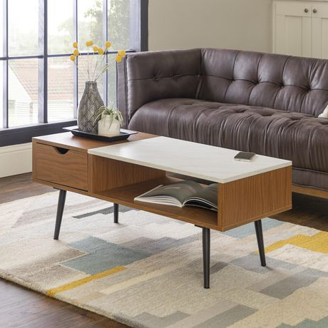 Manor Park Mid Century Modern Coffee Table With Storage Multiple