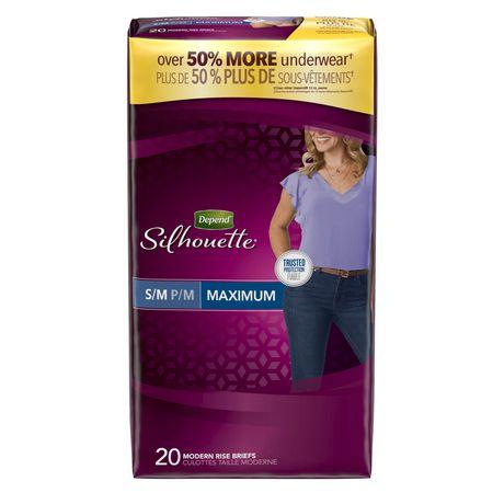 Culottes d'incontinence Depend Silhouette pour femmes, absorption maximale - image 1 de 1