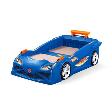 Lit d'auto de course Hot WheelsMC lit berceau à lit simple par Step2 - image 1 de 8