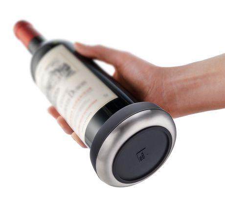 Vacu Vin Black with Stainless Steel Base Bottle Coaster - image 1 of 3