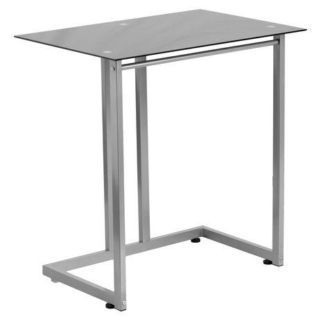 Black Tempered Glass Computer Desk - image 1 of 2