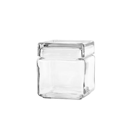6fe57568f00 Anchor Hocking 1 Qt Stackable Square Glass Jar - image 1 of 1 ...