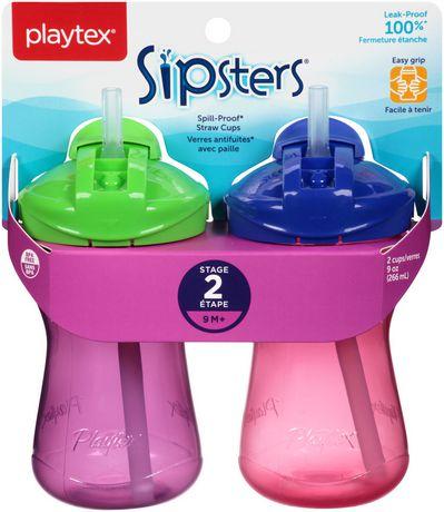 Verres antifuites Sipsters de Playtex Baby avec paille - image 3 de 8