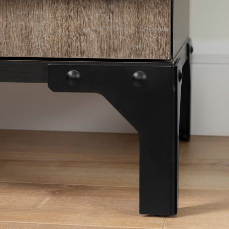 South Shore Valet Buffet with Wine Storage, Weathered Oak And Ebony - image 5 of 6
