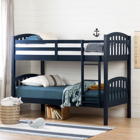 South Shore Aviron Solid Wood Bunk Beds Navy Blue Walmart Canada