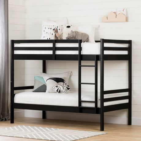 South Shore Fakto Solid Wood Bunk Beds Matte Black Walmart Canada