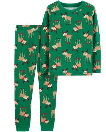 Pyjama 2pièces pour tout-petit Fille Coton de  Child of Mine made by Carter's – santa - image 1 de 1