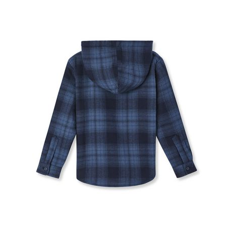 George Boys' Sherpa Lined Hooded Flannel Shirt - image 2 of 2
