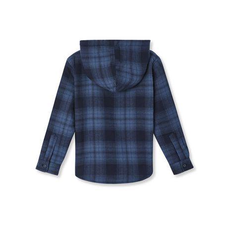 Chemise à capuchon en flanelle doublée en sherpa George pour garçons - image 2 de 2