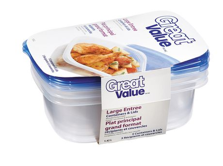 Great Value Large Entree Containers | Walmart Canada