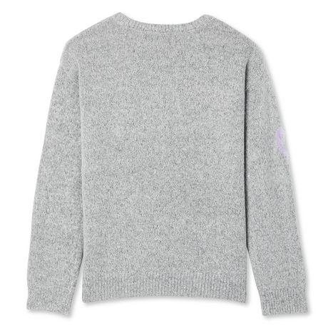 George Girls' Eyelash Heart Sweater - image 2 of 2