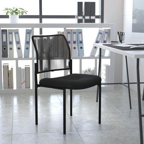 Comfort Black Mesh Stackable Steel Side Chair - image 2 of 4