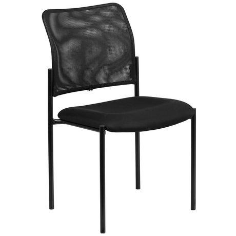 Comfort Black Mesh Stackable Steel Side Chair - image 1 of 4