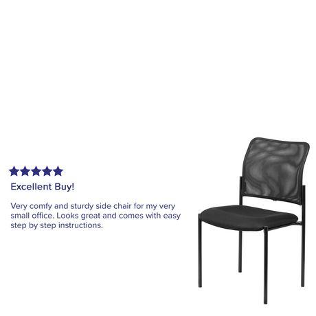 Comfort Black Mesh Stackable Steel Side Chair - image 4 of 4
