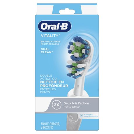 oral b vitality dual clean rechargeable electric toothbrush. Black Bedroom Furniture Sets. Home Design Ideas