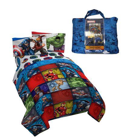 Avengers 4pc Twin Bed Set With Bonus Tote Walmart Canada