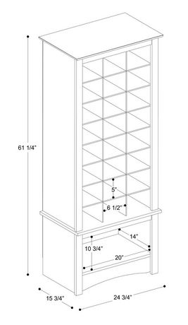 Tall Shoe Cubbie Cabinet - image 2 of 5