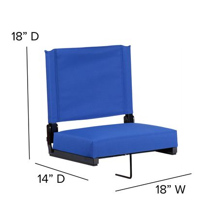 Grandstand Comfort Seats by Flash with Ultra-Padded Seat in Blue - image 6 of 8