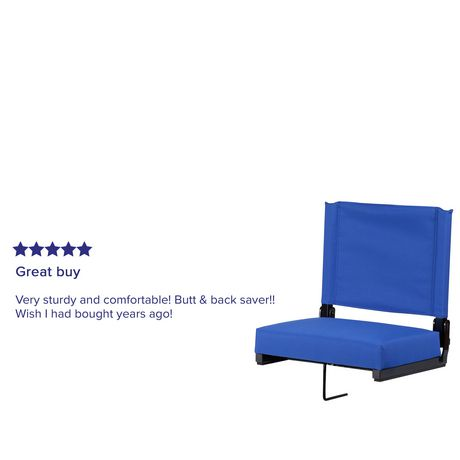 Grandstand Comfort Seats by Flash with Ultra-Padded Seat in Blue - image 4 of 8